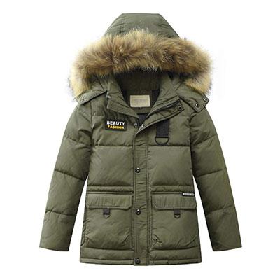 LISUEYNE Boys Kids Chaqueta de invierno con plumíferos con capucha