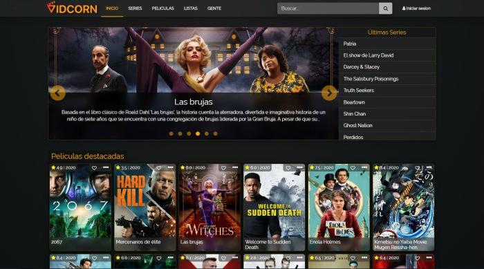 Disfruta de las mejores series y películas con Vidcorn